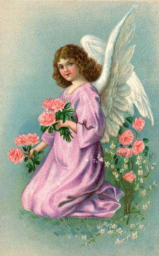 Affirmative Prayer Support - Prayer Requests - Loving Prayers - Angel Kneeling With Roses