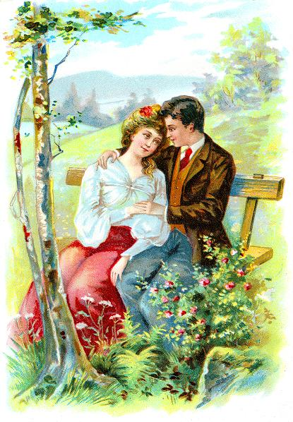 Beautiful Free Love Spell - Couple In Love In Nature Landscape - Free Love Spells